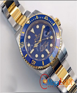Rolex submeriner gold-blue replica watch with box & warranty