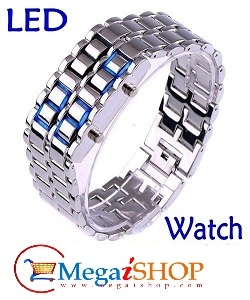 Blue-LED-Lava-Style-Iron-Samurai-Watch_cheapatleast
