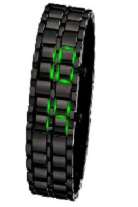 Hi-Quality Samurai Metal Green LED Watch